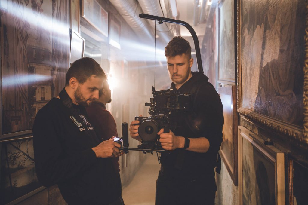 DOP and camera assistant during the filming