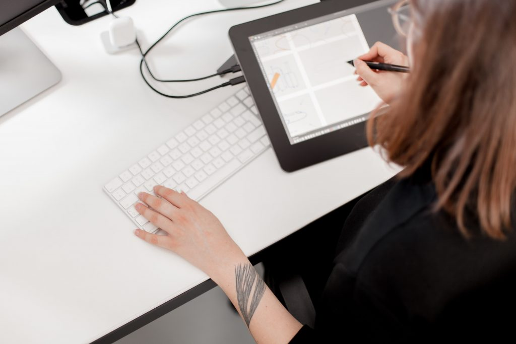 Graphic designers' workstation for animation projects
